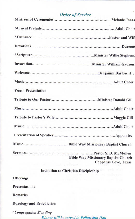 Examples of a Black Church Musician Appreciation Day ...